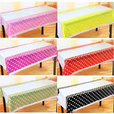 cheap polka dot plastic table cloth birthday decoration