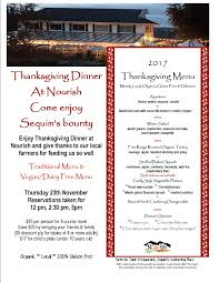 thanksgiving dinner with nourish