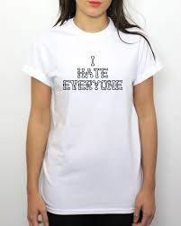 i everyone t shirt emo goth hipster indie haters bones