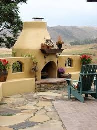 Chiminea San Diego Adobe Outdoor Fireplace Southwestern Landscaping Designs By