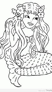 free printable mermaid coloring pages timykids
