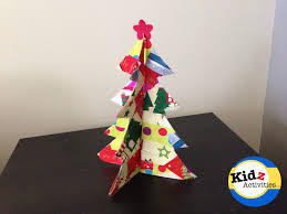 recycled paper christmas tree craft kidz activities