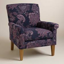 Paisley Home Decor Fabric by Chair Blue And Brown Parson Et Of Homepop Paisley Upholstered