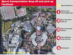 Disney World Epcot Map How Minnie Vans At Disney World Work Wdw Prep