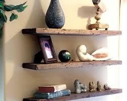Floating Wooden Shelves by Reclaimed Wood Floating Shelf Etsy