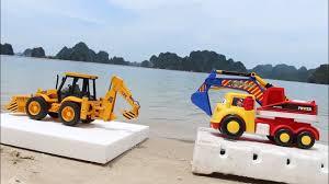 digger toy trucks toy excavator for children truck videos