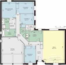 plan maison 80m2 3 chambres maison de plain pied dé du plan de maison de plain pied