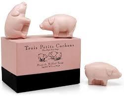 pigs farm animal sculpted soap zillymonkey