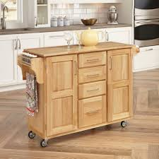 Storage On Top Of Kitchen Cabinets Home Styles Natural Breakfast Bar Kitchen Cart With Wood Top