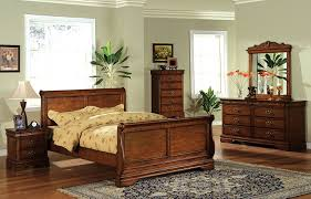 Bed Frames Oak Furniture Of America Laurelle Sleigh Bed California