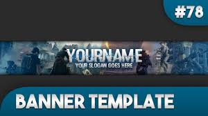 gaming youtube banner template 78 free photoshop download youtube