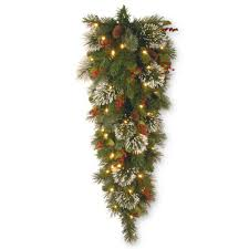 national tree company wintry pine 48 in teardrop with battery