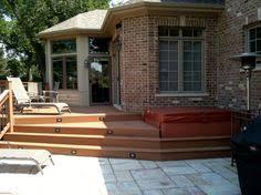 combination wood u0026 composite deck by libertyville il deck builder