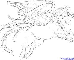 13 how to draw a flying horse flying horse