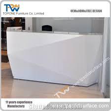 Corian Reception Desk Factory Price White Corian Solid Surface Piano Design Reception