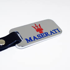 maserati blue logo chrome key chain fob blue u0026 red