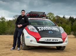 nissan leaf youtube video adventurer chris ramsey to undertake 10 000 mile mongol rally in