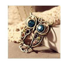 vintage owl necklace jewelry images Vintage owl pendant necklace jewelry on luulla png