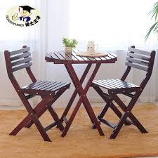 buy solid wood balcony lounge chair three piece folding tables and