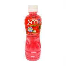 playpink cuisine j mix strawberry juice 25percent with nata de coco 320ml tops