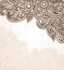 mehndi style background with floral ornament royalty free vector