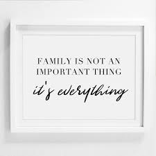 home decor family signs family is not an important thing housewarming gift