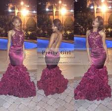 aliexpress com buy elegant long mermaid burgundy prom dresses