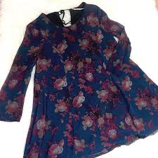 dillons floral 73 outfitters dresses skirts kimchi blue longsleeve