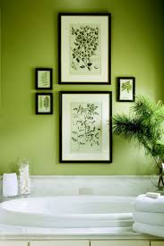 best ideas about green bathrooms pinterest with botanical artwork and plants for fresh bathroom