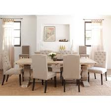 Reclaimed Wood Kitchen  Dining Tables Youll Love Wayfair - White and wood kitchen table