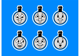 thomas train faces icon download free vector art stock