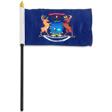 Belize Flag Michigan Flag 4 X 6 Inch