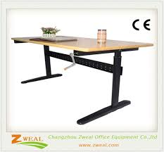 Electric Adjustable Desk by Manual Height Adjustable Desk Frame Manual Height Adjustable Desk