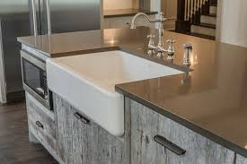 Kitchen Barn Sink Gray Barn Wood Kitchen Island With Farm Sink Cottage Kitchen