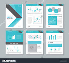 annual report word template page layout for company profile annual report brochure and