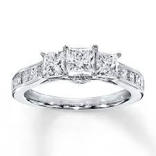 kays jewelers as beautiful stone store for your jewelry kayoutlet 3 stone diamond ring 2 ct tw princess cut 14k white gold