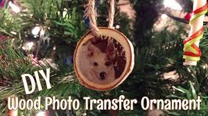 diy wood photo transfer christmas ornament youtube