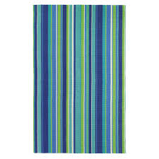 Blue Outdoor Rugs Stripe Outdoor Rug 100 Polyester