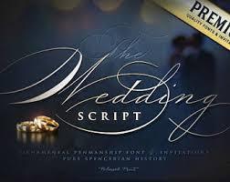 spencerian script etsy