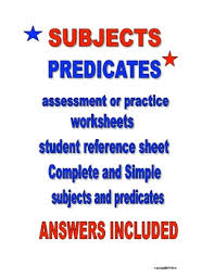 all worksheets subject and predicate practice worksheets