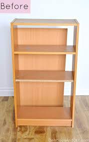 Diy Modern Bookcase Modern Bookshelf Makeover Delicious And Diy