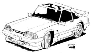 2010 mustang coloring page free download