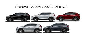 hyundai tucson colors in india stardust red silver white