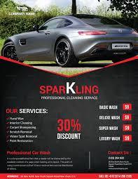 car wash flyer templates company profile sample download