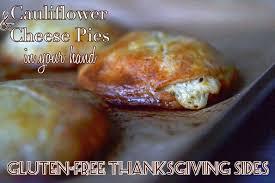 gluten free cauliflower cheese mini pies in mini parmigiano pie