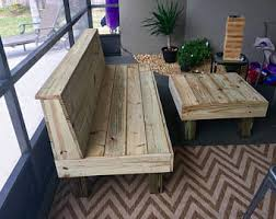 Rustic Wood Patio Furniture The Sectional Rustic Wood Patio Benches And Table Or