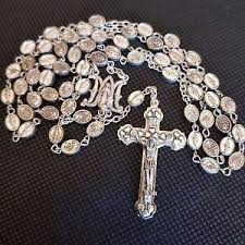 rosary from the vatican rosary vatican silver blessed by pope ebay