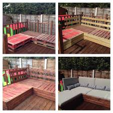 Pallet Furniture Patio by Patio Furniture Made From Pallets And Decking Boards Patio
