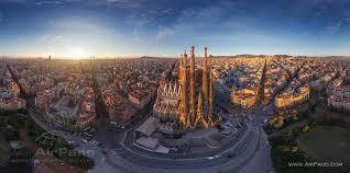 barcelona city view barcelona spain 360 aerial panoramas 360 virtual tours around