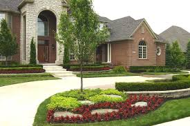 Front Yard Landscape Ideas by Corner Landscape Ideas Modern House Decorating Inspiration For